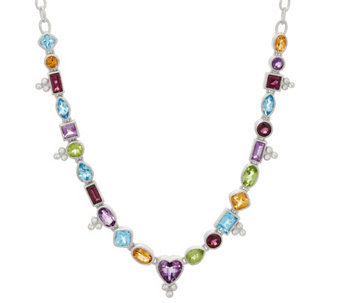 Judith Ripka Sterling Silver Multi-Gemstone Heart Necklace - J329660