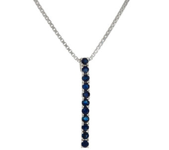 Ruby, Emerald or Sapphire Sterling Silver Adjustable Necklace - J329960