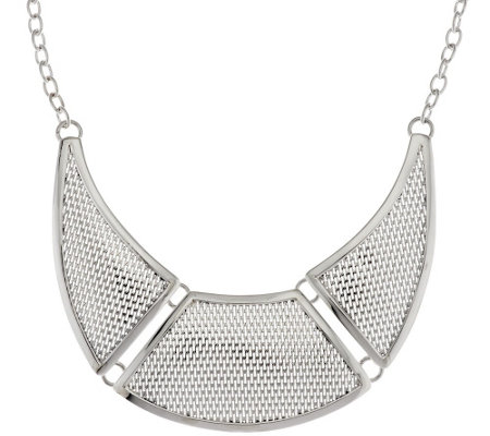 """As Is"" Dominique Dinouart Sterl. Mesh Station Necklace, 54.0g"