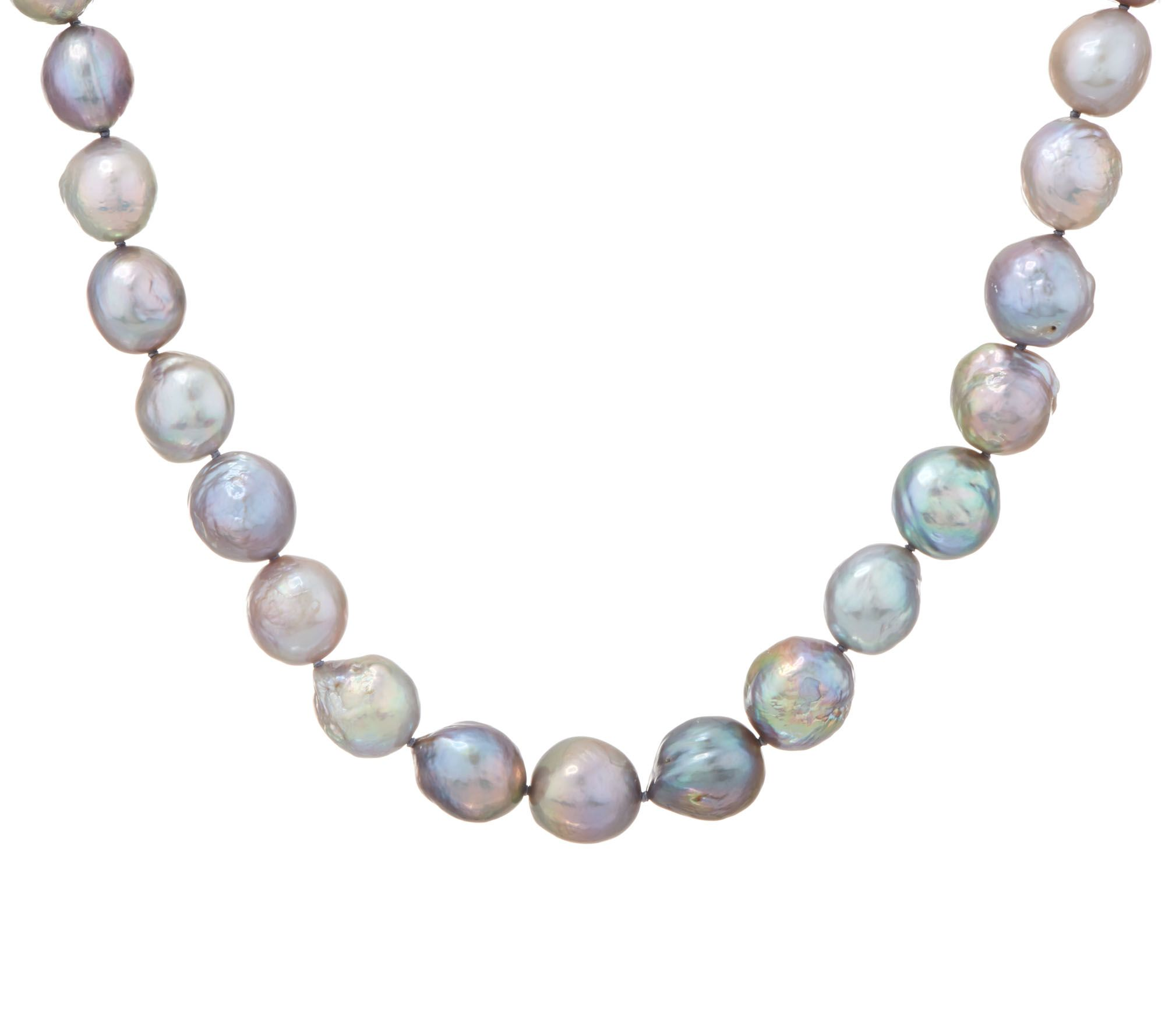Honora Gray Ming Cultured Pearl Sterling 20