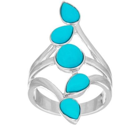 """As Is"" Multi- Cut Sleeping Beauty Turquoise Sterling Ring"
