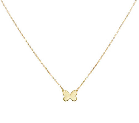 14K Gold Bitty Butterfly Motif Necklace