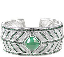 Judith Ripka Sterling Green Mother of Pearl Cuff - J378560