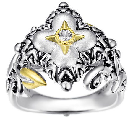 Barbara Bixby Sterling Silver & 18K Flower Ring