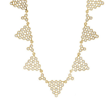 Luxe Rachel Zoe Polka Dot Pyramid Necklace
