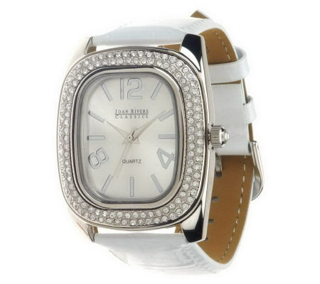 """As Is"" Joan Rivers All That Shimmers Croco Pattern Strap Watch"