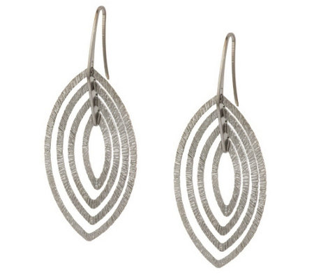 """As Is"" VicenzaSilver Sterling 2"" Marquise Dangle Earrings"