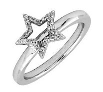 Simply Stacks Sterling Star Diamond Ring - J299261