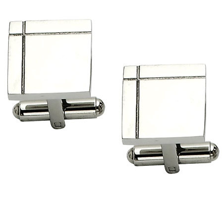 Forza Polished Square Cuff Links