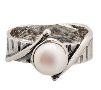 Or Paz Sterling 7.0mm White Cultured FreshwaterPearl Ring - J303861