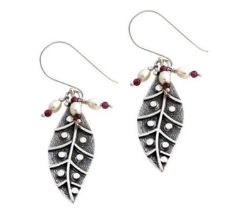 "Novica Artisan Crafted Sterling ""Dew Leaf"" Earrings - J304061"