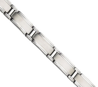 "Forza 9"" Wide Brushed and Polished Bracelet - J304561"