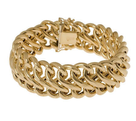 "Arte d'Oro  7-1/4"" Polished Figure-Eight Bracelet, 18K, 29.3g"