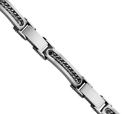 "Forza 8-1/2"" Satin with Chain Bracelet"