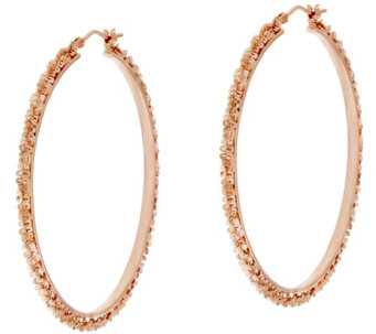 "Bronze 2"" Margherita Round Hoop Earrings by Bronzo Italia - J319961"