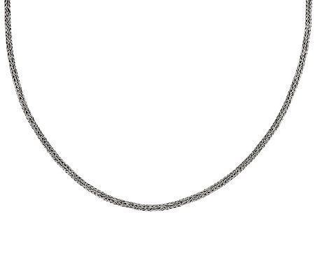 "Sterling Silver 20"" Wheat Chain by Artisan Crafted, 17.0g"
