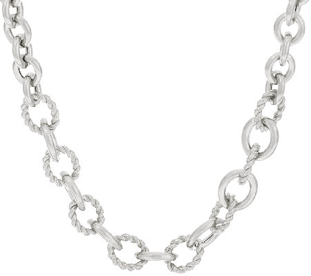 "Judith Ripka Sterling 18"" Verona Oval Link Necklace"
