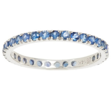 """As Is"" 0.75 ct tw Colors of Sapphire Eternity Band Ring, 14K Gold"
