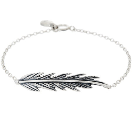 Hagit Sterling Silver Feather Bracelet