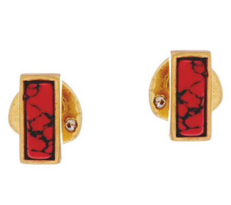 Stella & Dot Deja vu Coral Stud Earrings