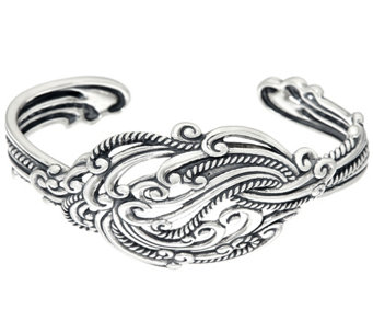 """As Is"" Carolyn Pollack Sterling Silver Signature Knot Cuff, 30.g - J333561"