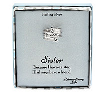 Extraordinary Life Sterling Message Bypass Ring - J333661