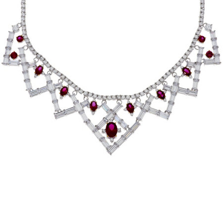 """As Is"" The Elizabeth Taylor 6.40 cttw Simulated Ruby Necklace"