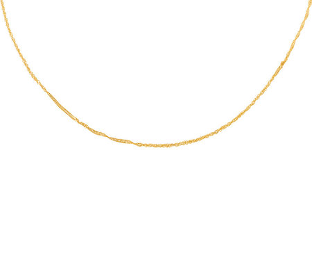 "Milor 24"" Polished Singapore Chain, 14K Gold"