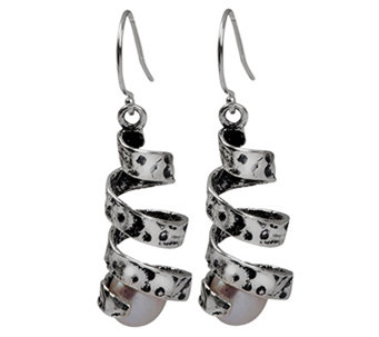 Or Paz Sterling Cultured Freshwater Pearl Dangle Earrings - J336361