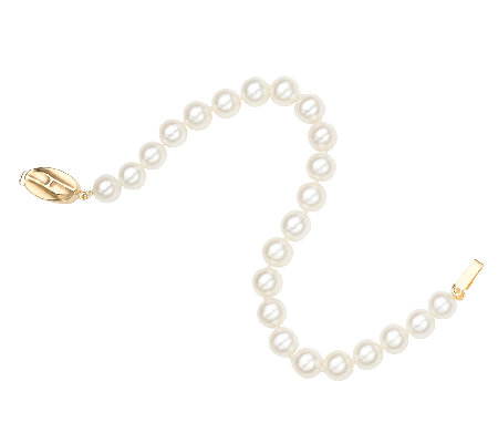 Honora Classic 7mm Cultured Pearl & 14K  Bracelet, 7""