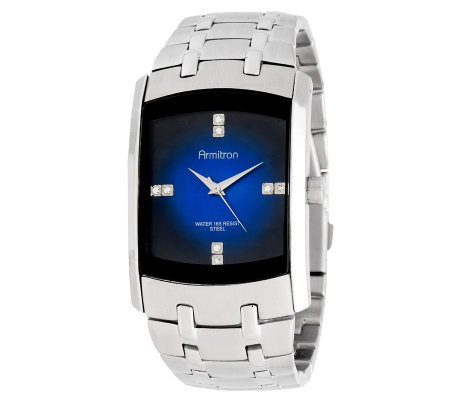 Armitron Men's Crystal Accent Blue Degrade DialDress Watch