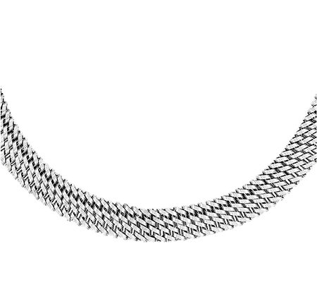 "Sterling Mesh 18"" Necklace"