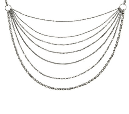 "Steel by Design Multi-Chains 33-1/2"" Necklace"