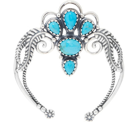 Turquoise & Sterling Silver Naja Enhancer by American West
