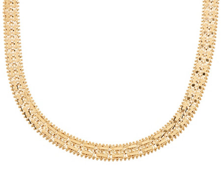 "Imperial Gold 18"" Mirror Bar Necklace 14K Gold 41.4g"