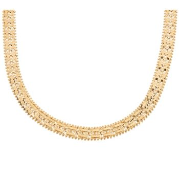 Imperial Gold 18 Mirror Bar Necklace 14K Gold 41.4g