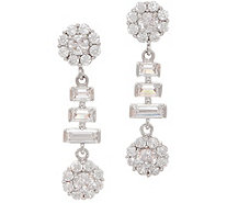 Diamonique Royal Collection Baguette and Round Earrings - J356161