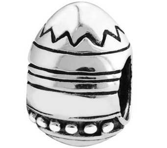 Prerogatives Sterling Easter Egg Bead - J110362