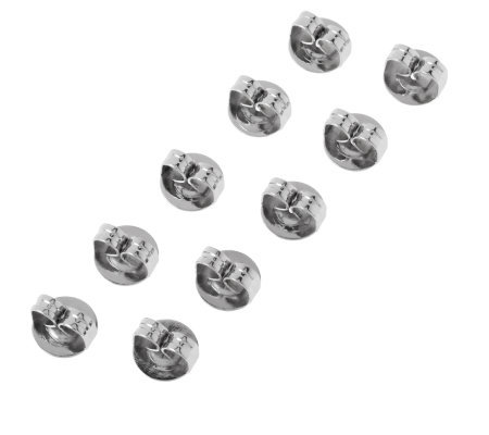 Stainless Steel Set of 5 Pairs Oversized Earring Clutches