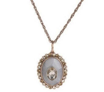 Wildlife by Heidi Klum Oval Faceted Pendant_w/Chain - J261762