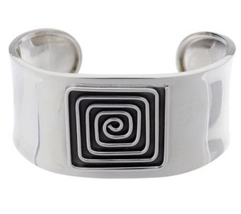 Dominique Dinouart Sterling Large Carved Pattern Cuff, 31.0g - J264962
