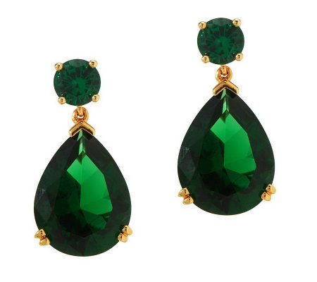 Smithsonian Simulated Tsavorite Drop Earrings