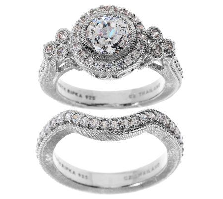 Judith Ripka Sterling 185ct Diamonique Bridal Ring Set Page 1