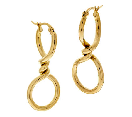 Stainless Steel High Polished Twisted Hoop Earrings