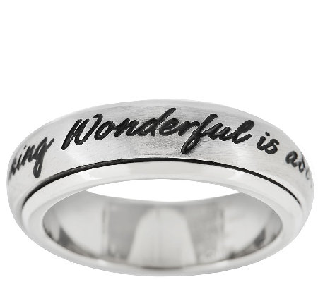 Stainless Steel Inspirational Spinning Design Band Ring