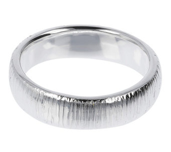 UltraFine Silver 5mm Textured Silk Fit Band Ring - J299062