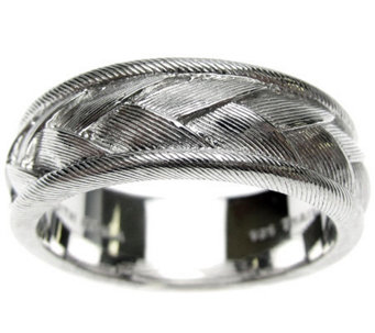 Judith Ripka Sterling Textured Braided Men's Ring - J310562