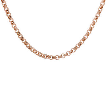 "Bronzo Italia 16"" Polished Rolo Link Necklace - J311762"