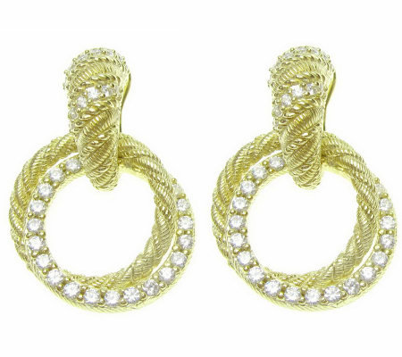 Judith Ripka Diamonique Drop Earrings, 14K Clad