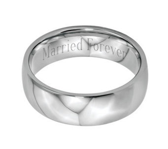 Stainless Steel 7mm Polished Engravable Ring - J314262